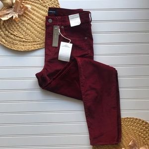 NWT J. Crew red believer high-rise toothpick jean
